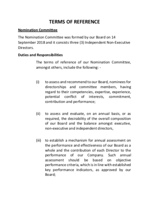 TOF - Nomination Committee